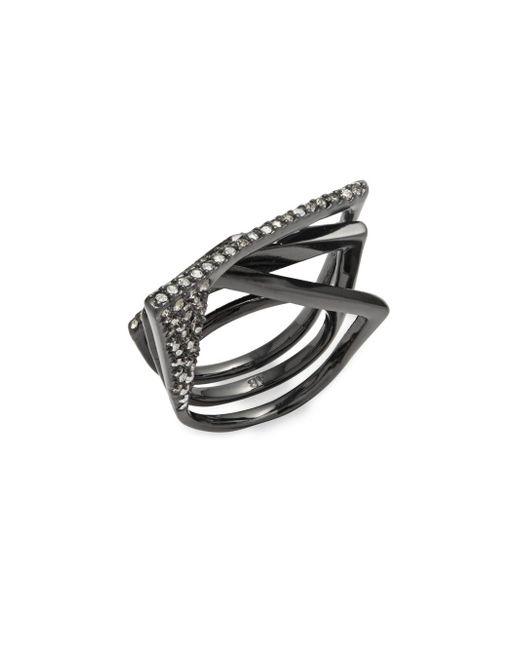 Alexis Bittar - Black Crystal-studded Ring - Lyst
