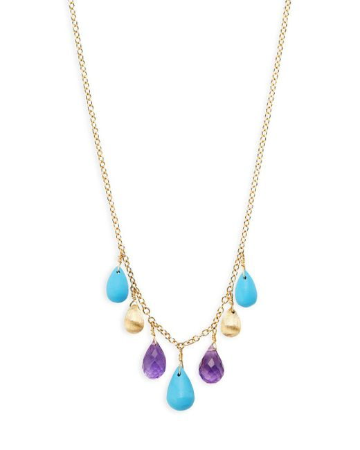 Marco Bicego - Metallic Acapulco Resort 18k Gold, Turquoise & Amethyst Statement Necklace - Lyst