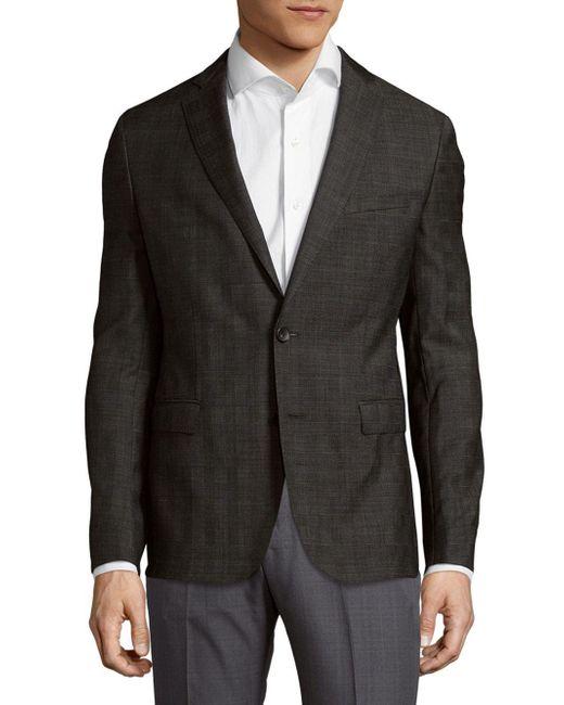 BOSS - Gray Wool Sportcoat for Men - Lyst