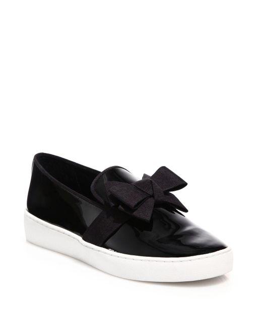 Michael Kors - Black Val Runway Bow Skate Sneaker - Lyst