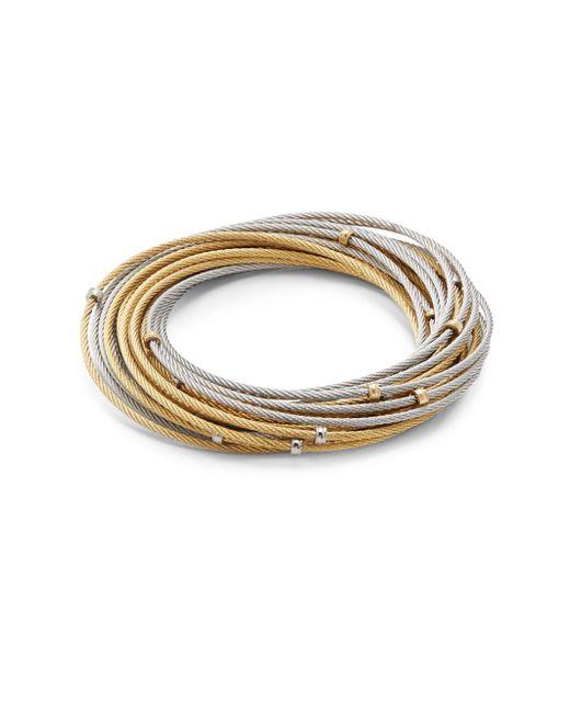 Alor - Metallic Classique 18k Gold & Stainless Steel Multi-strand Bracelet - Lyst