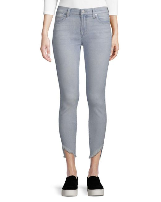7 For All Mankind - Multicolor Gwen Ankle Jeans - Lyst