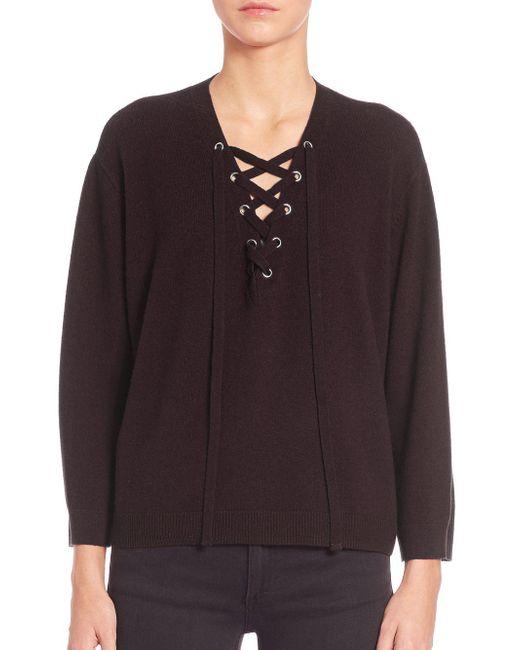 The Kooples - Black Solid Wool Sweater - Lyst