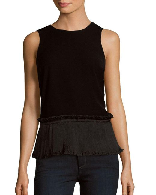 Opening Ceremony - Black Ruffle Stone Tank Top - Lyst