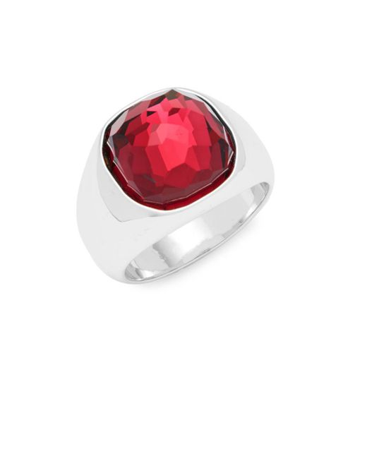 Swarovski - Metallic Crystal Solitaire Ring - Lyst