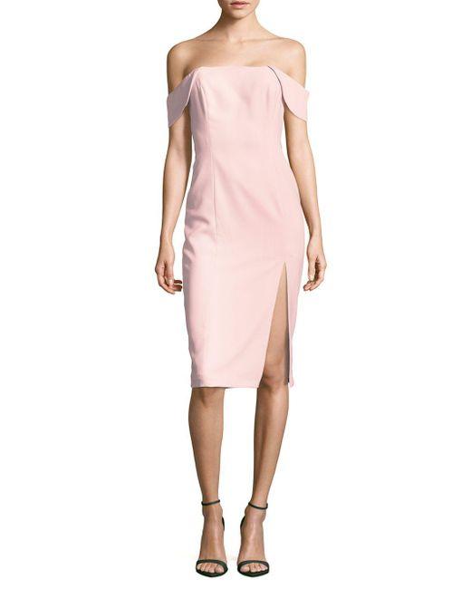 Jay Godfrey   Pink Sleeveless Off-the-shoulder Dress   Lyst