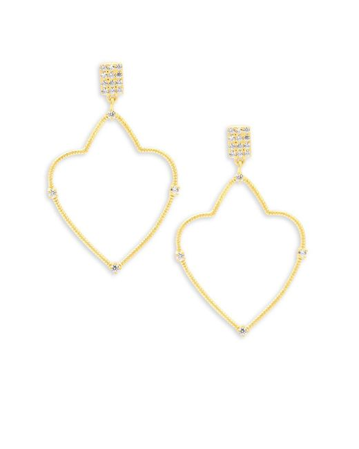 Freida Rothman - Metallic Classic Cubic Zirconia And Sterling Silver Spade Roped Earrings - Lyst