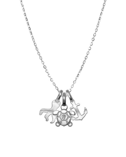 Alex Woo - Metallic Mini Addition Diamond And Sterling Silver Pendant Necklace - Lyst