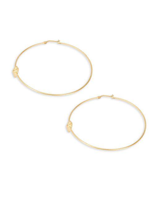 """Valentino   Metallic Hoop Earrings 2.5""""   Lyst"""