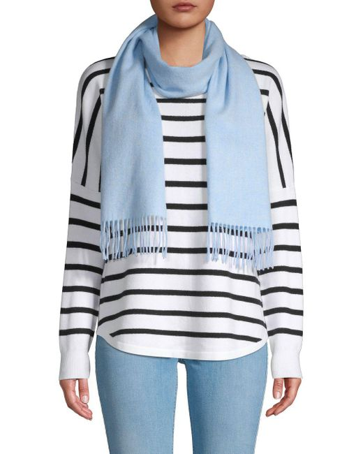 Saks Fifth Avenue - Blue Solid Cashmere Scarf - Lyst