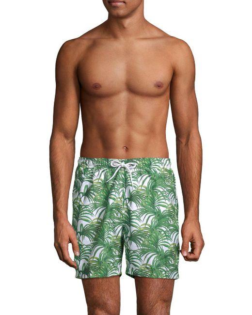 Trunks Surf & Swim - Green Jungle Leaves Sano Swim Shorts for Men - Lyst