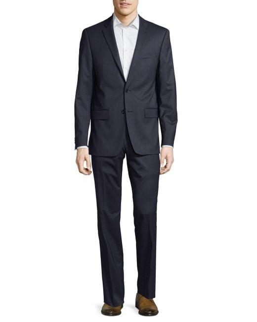 John Varvatos Blue Wool Slim Suit for men