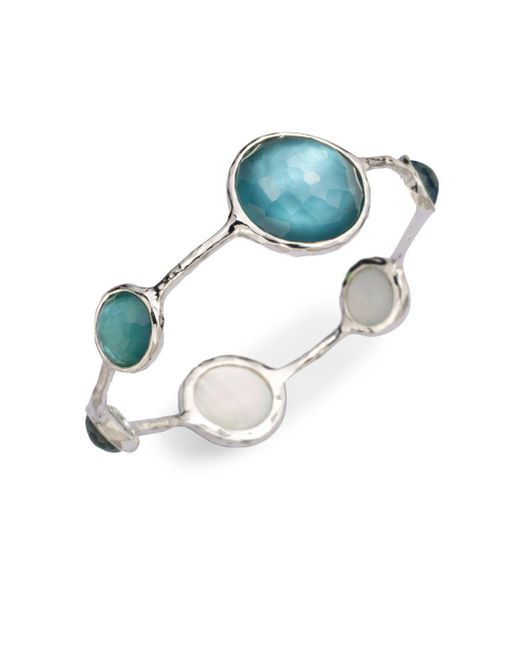 Ippolita - Multicolor Mother-of-pearl, Clear Quartz & Sterling Silver Bracelet/denim - Lyst