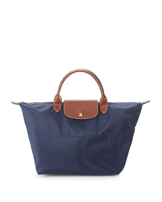 Longchamp Blue Le Pliage Tote Bag