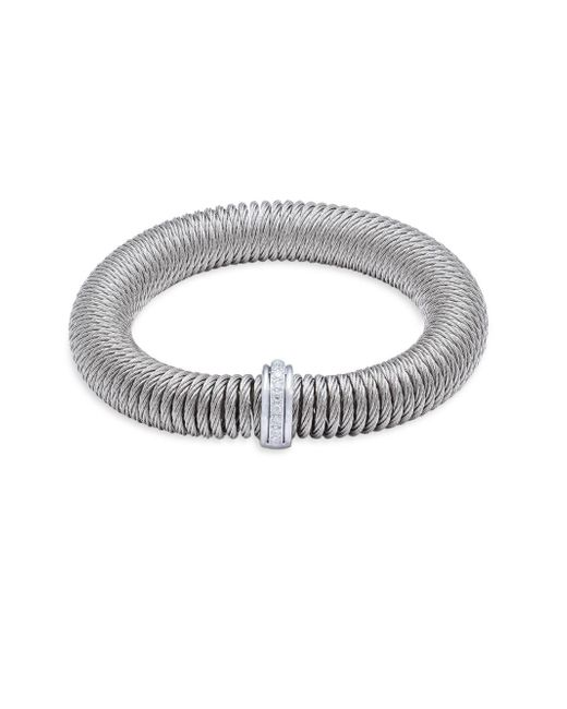 Alor - Metallic Diamond & 18k White Gold Bracelet - Lyst