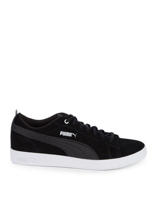 ... PUMA - Black Smash Suede Sneakers for Men - Lyst 95e1a4b33
