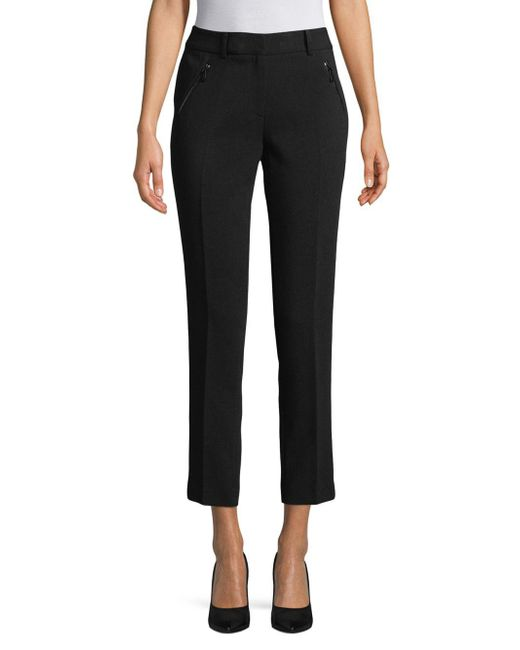 Karl Lagerfeld - Black Casual Cropped Pants - Lyst