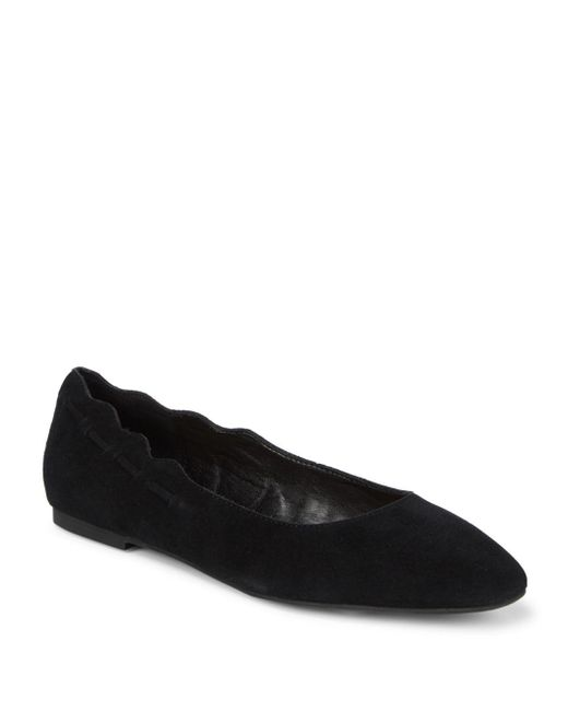 Saks Fifth Avenue - Black Zabe Suede Ballet Flats - Lyst