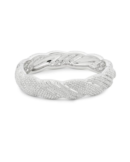 Adriana Orsini - Metallic Pavé Crystals Scalloped Bangle Bracelet - Lyst