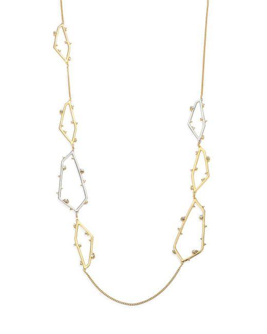 Alexis Bittar - Metallic Elements Crystal Geometric Long Necklace - Lyst
