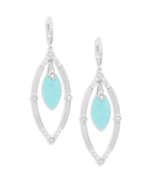 Jude Frances - Blue Encore Sterling Silver Open Marquis Earrings - Lyst