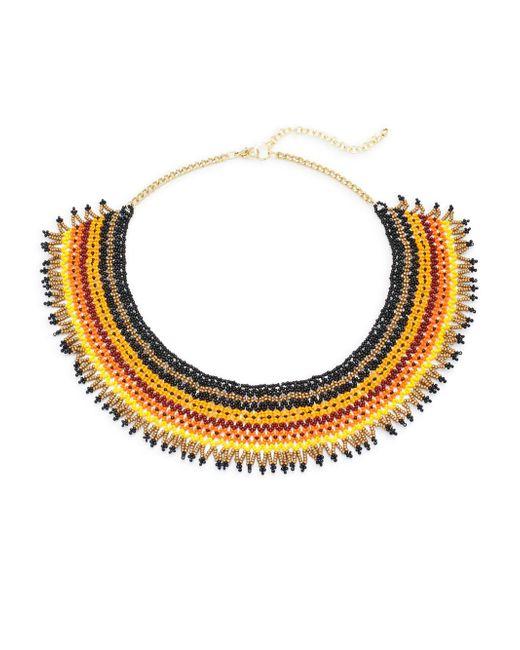 Saks Fifth Avenue | Metallic Multicolor Statement Necklace | Lyst