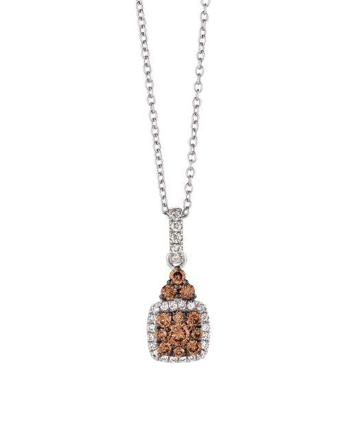 Le Vian - Metallic Chocolatier Chocolate & Vanilla Gold Square Pendant Necklace - Lyst