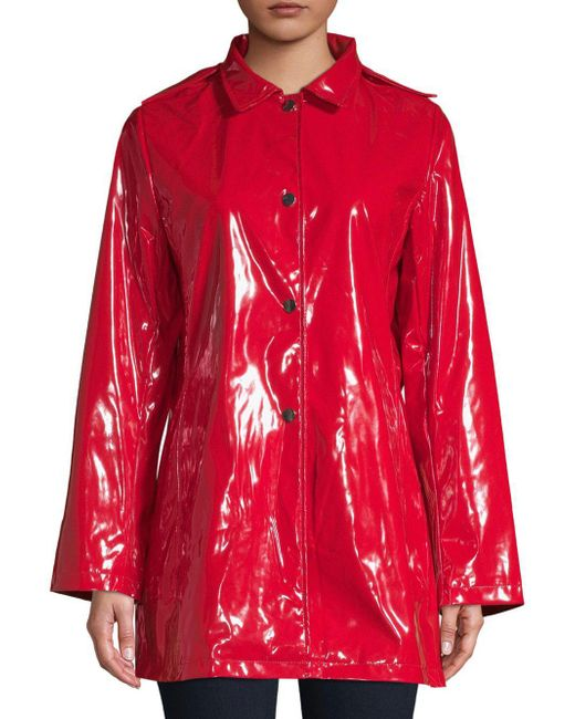 Jane Post - Red Princess Hooded Raincoat - Lyst
