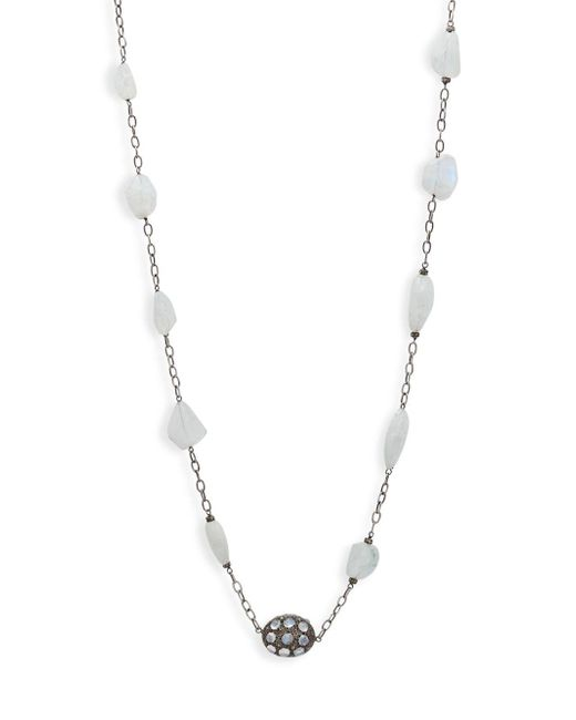 Bavna - Metallic Sterling Silver Single Strand Necklace - Lyst