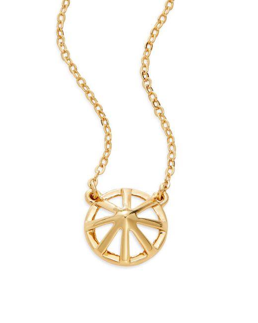 Rebecca Minkoff | Metallic Wheel Pendant Necklace | Lyst