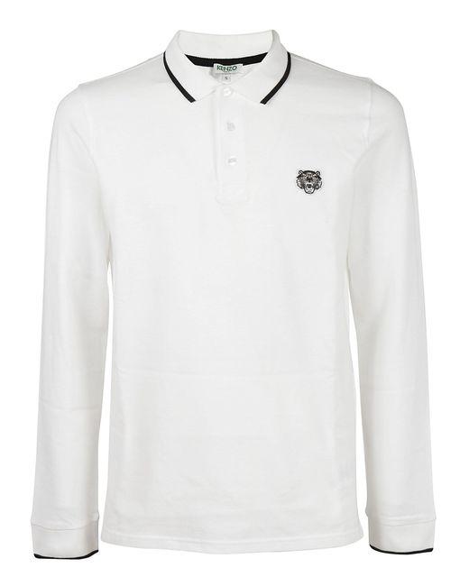 KENZO - White Polo Shirt for Men - Lyst