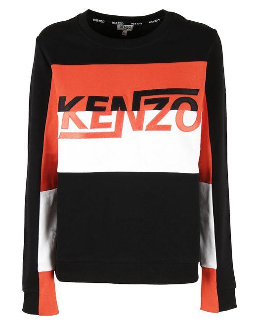 KENZO | Black Logo Embroidered Sweatshirt for Men | Lyst