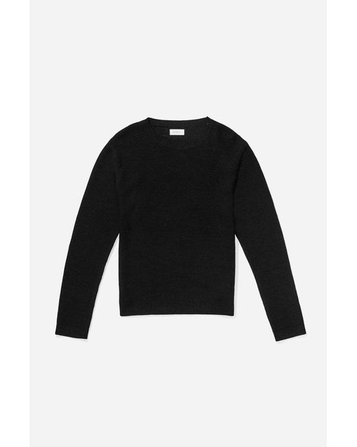 Saturdays NYC - Black Wade Paper Yarn Sweater for Men - Lyst