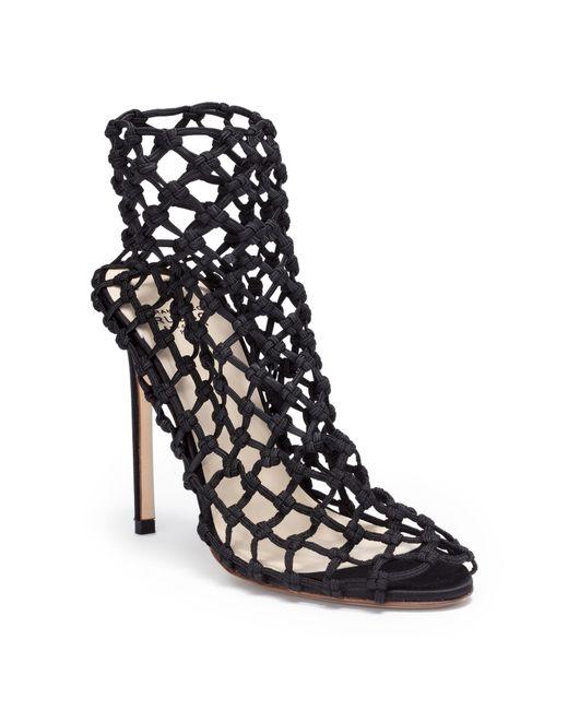 Francesco Russo - Black 105 Elastic Satin Sandals - Lyst