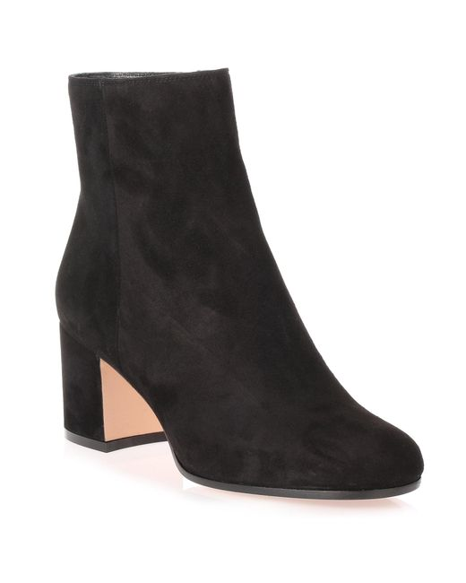 Gianvito Rossi - Margaux Black Suede Ankle Boot Us - Lyst
