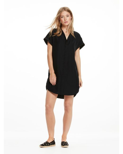 Scotch & Soda | Black V-neck Shirt Dress | Lyst