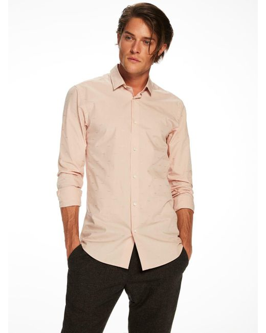 Scotch & Soda | Natural Special Weave Shirt Slim Fit for Men | Lyst