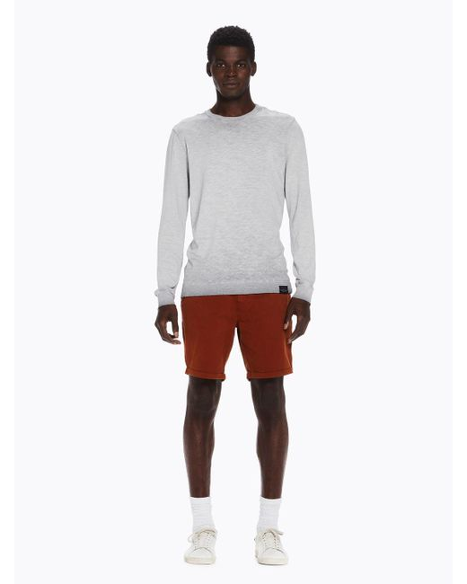 Scotch & Soda - Gray Oil Washed Tee for Men - Lyst