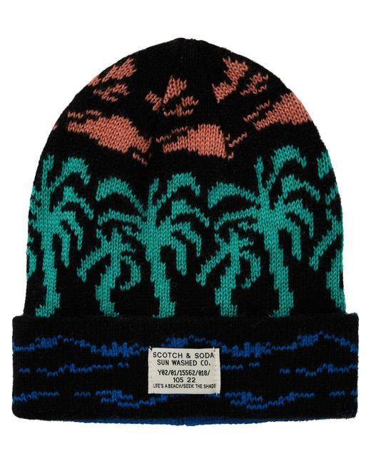 Scotch & Soda - Multicolor Rib Knitted Beanie for Men - Lyst