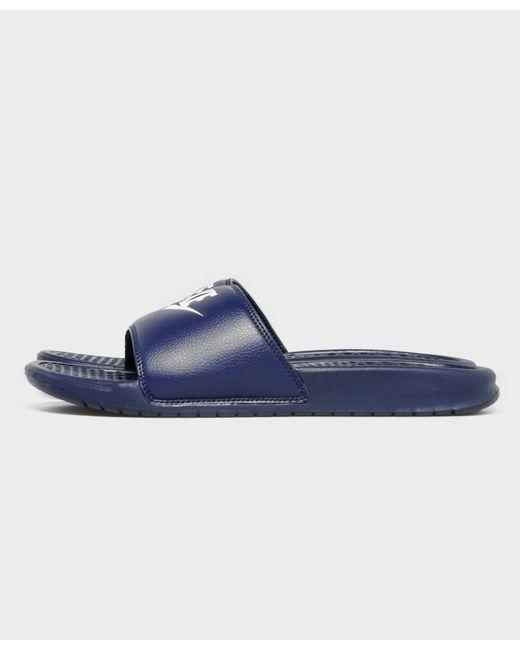 Nike | Blue Benassi Just Do It Slides | Lyst