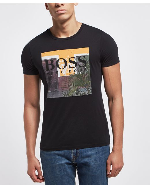 BOSS - Black Palm Short Sleeve T-shirt for Men - Lyst
