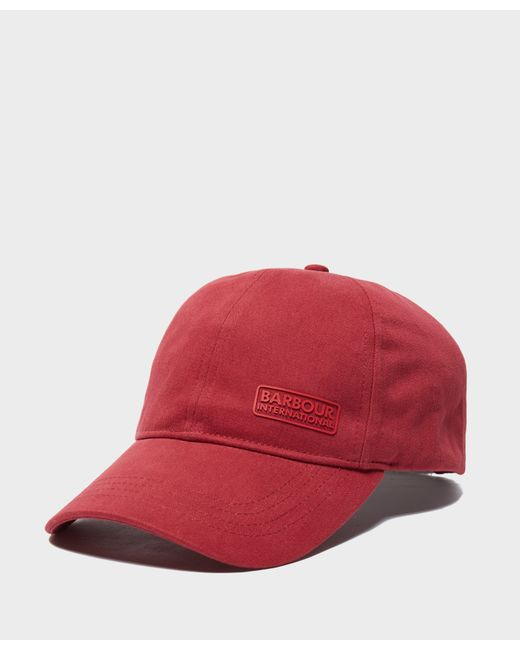dac0dc08b75 Barbour - Red International Norton Drill Cap for Men - Lyst ...