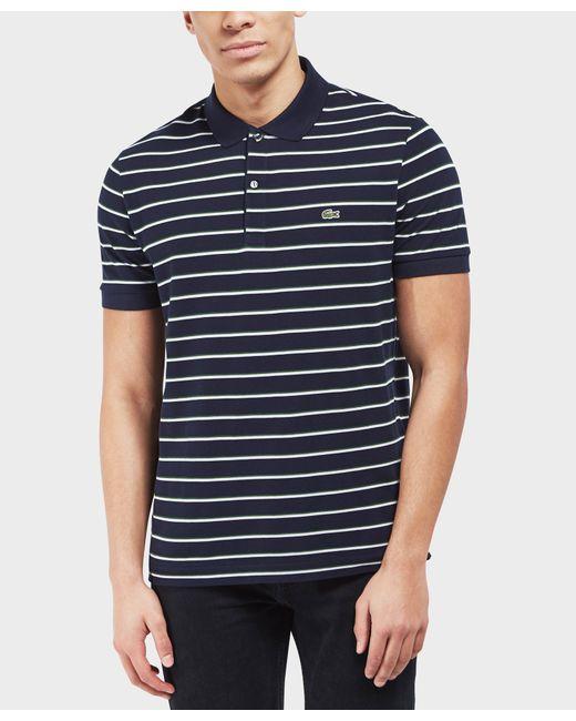 Lacoste - Blue Classic Stripe Polo for Men - Lyst