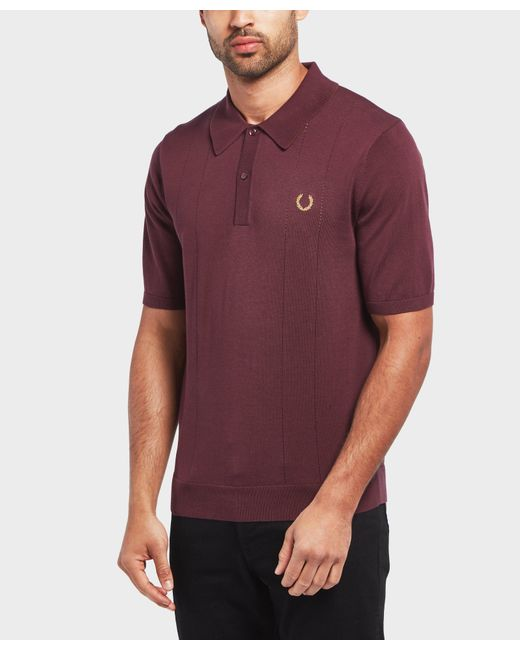 Fred Perry - Multicolor X Miles Kane Short Sleeve Knitted Polo Shirt for Men - Lyst