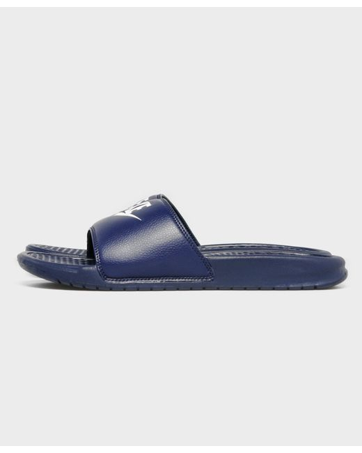 Nike - Blue Benassi Just Do It Slides - Lyst