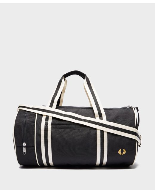 Fred Perry - Black Classic Barrel Holdall for Men - Lyst ... bfc71c84f4e84