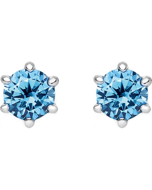 Thomas Sabo - Black Glam And Soul Blue Stone Sterling Silver Earrings - Lyst