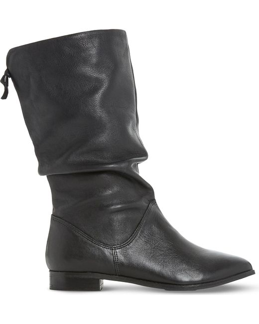 Dune   Black Rosalind Leather Mid-calf Boots   Lyst