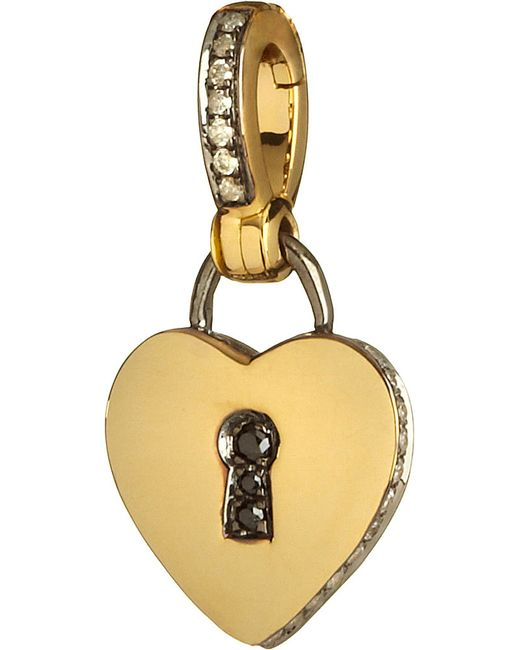 Annoushka | Mythology 18ct Yellow Gold And Diamond Love Charm | Lyst