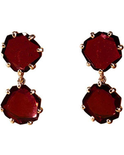 Annoushka | Red Shard 18ct Rose-gold And Rhodolite Garnet Drop Earrings | Lyst